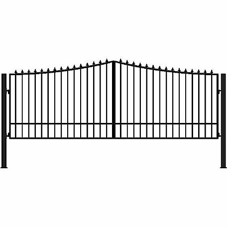 Gate Builders New Yorker, 16 ft. with Finials