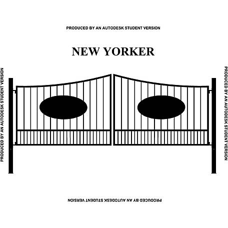 Gate Builders New Yorker, 16 ft. with Oval Inserts