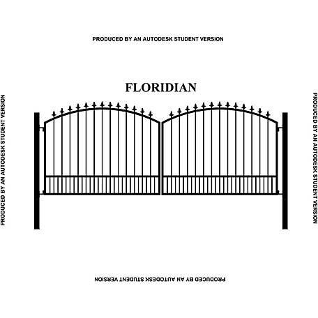 Gate Builders Floridian, 16 ft. with Finials