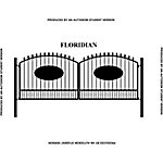 Gate Builders Floridian, 16 ft. with Oval Inserts and Finials