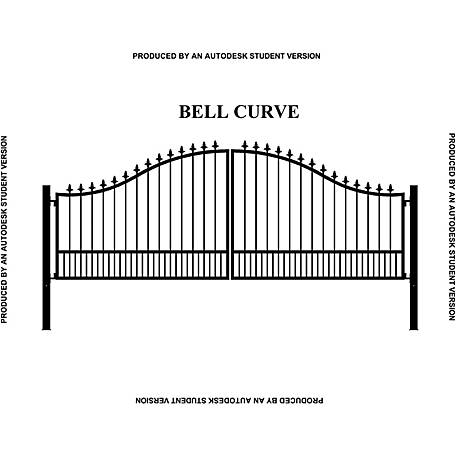Gate Builders Southern Belle Curve, 16 ft. with Finials