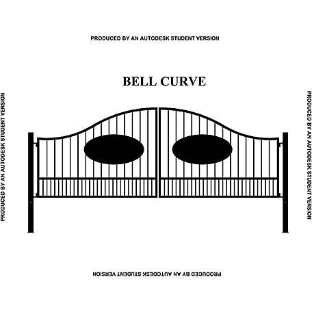Gate Builders Southern Belle Curve, 16 ft. with Oval Inserts