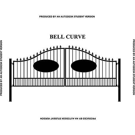 Gate Builders Southern Belle Curve, 16 ft. with Oval Inserts and Finials