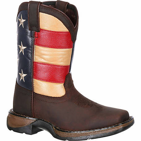 Durango Lil' Rebel Little Kid's Flag Western Boot