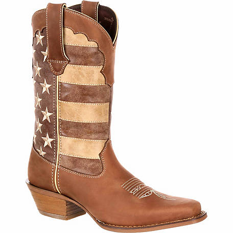 Durango Women's Crush Distressed Flag Cowboy Boot