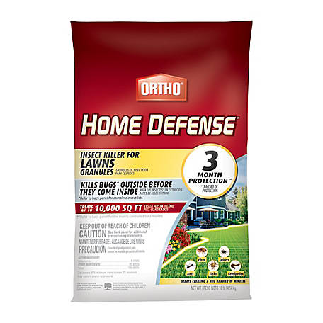 Ortho Home Defense Insect Killer for Lawns Granules, 10 lb., 0167420