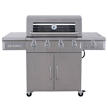 3 Embers 4-Burner Gas Grill with Radiant Embers Cooking System, GAS7480CS