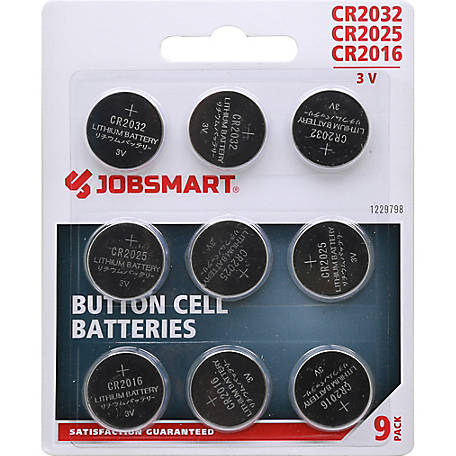 JobSmart  Button Cell Battery, Pack of 9