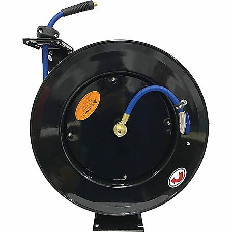 JobSmart 3/8 in. x 75 ft. Spring Driven Air Hose Reel, L801233