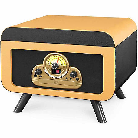 Victrola 5-in-1 Vintage Tabletop Record Player with Bluetooth and CD Player
