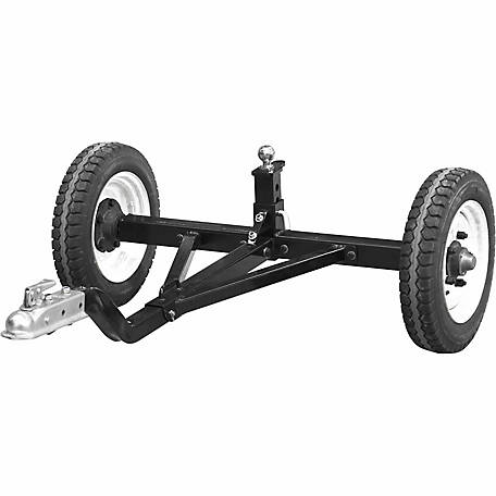 Tow Tuff Heavy-Duty ATV Weight Distributing Adjustable Trailer Dolly