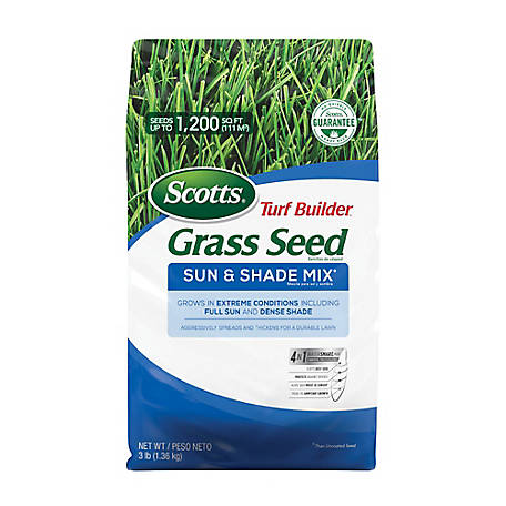 Scotts Turf Builder Grass Seed Sun & Shade Mix, 3 lb. *Not available in LA., 18225