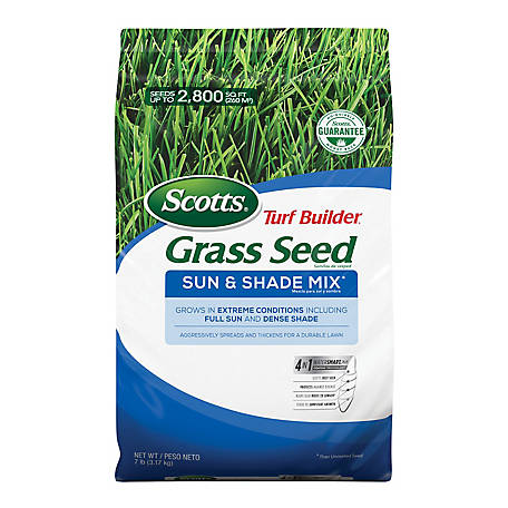 Scotts Turf Builder Grass Seed Sun & Shade Mix, 7 lb. *Not available in LA., 18221