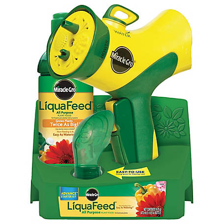 Miracle-Gro Liquafeed All Purpose Plant Food Advance Starter Kit, Feeder + 1 Refill, 1016111