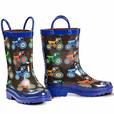 Double Barrel Boys' Kye Rain Boot