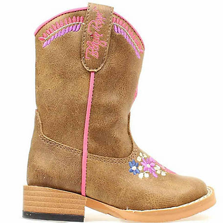 Blazin Roxx Girl's Sashay Floral Embroidery Toddler Zip Boot