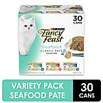Fancy Feast Classic Seafood Feast Collection Wet Cat Food, 3 oz. Can, Pack of 30, 5.63 lb.