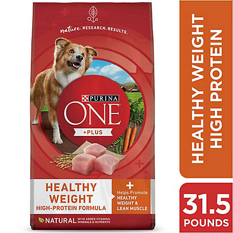 Purina ONE Weight Management, Natural Dry Dog Food, SmartBlend Healthy Weight Formula, 31.1 lb. Bag