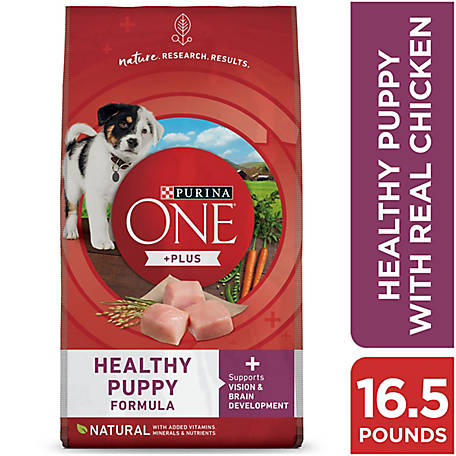 Purina ONE SmartBlend Healthy Puppy Formula Puppy Premium Dog Food, 16.5 lb. Bag