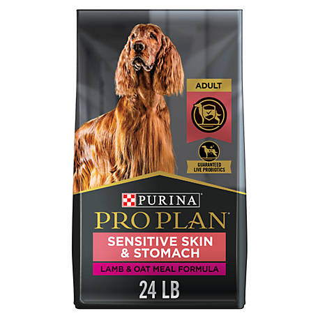 Purina Pro Plan FOCUS Sensitive Skin & Stomach Lamb & Oat Meal Formula Adult Dry Dog Food, 24 lb. Bag