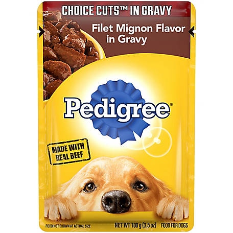 Pedigree Filet Mignon Flavor in Gravy, 3.5 oz. Pouch