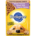 Pedigree Meaty Ground Dinner with Hearty Chicken, 3.5 oz. Pouch