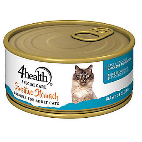 4health Special Care Sensitive Stomach Formula for Adult Cats, 5.5 oz. Can