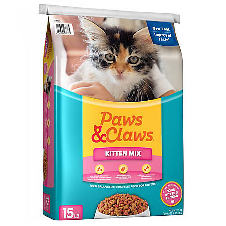 Paws & Claws Kitten Mix Dry Cat Food, 15 lb.