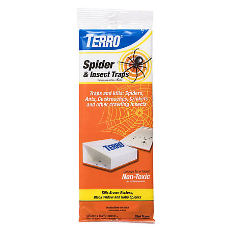 Terro Spider and Insect Trap, 4-Pack, T3206