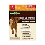 Sentry 7 Way De-Wormer. Large Dog, Pack of 6