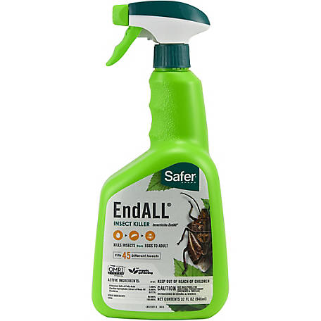 Safer Brand Endall Insect Killer, Organic, Ready To Use Spray, 32 oz., 5102-6