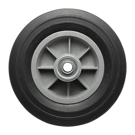 8 in. x 2.5 in. Solid Tire with Ribbed Tread, 5/8 in. Bore Size