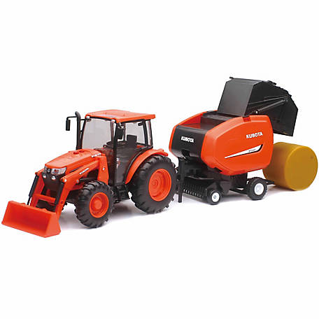 Kubota M5 Farm Tractor with Hay Bale Set, SS-33033