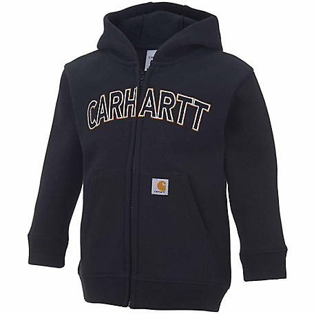 Carhartt Boy's Logo Fleece Zip Sweatshirt