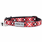 The Worthy Dog Bias Plaid Cat Collar