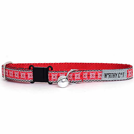 The Worthy Dog Nordic Snowflake Cat Collar