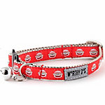 The Worthy Dog Sock Monkey Cat Collar