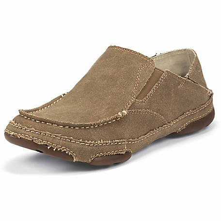 754256121 Tony Lama Men's Winter Wheat 3R Casuals Canvas Twin Gore Slip-On Shoe at  Tractor Supply Co.