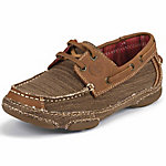 Tony Lama Women's Straw 3R Casuals Canvas Shoe with Tan Leather