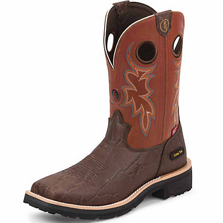 7ff7ddc32aa Tony Lama Men's Walnut Elephant Print 3R Work Composition Toe Work Boot at  Tractor Supply Co.