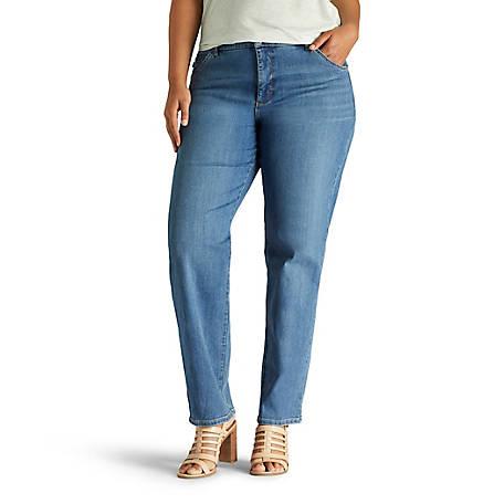 ae947bd5 Lee Women's Plus Monroe Classic Fit Straight Leg Jean
