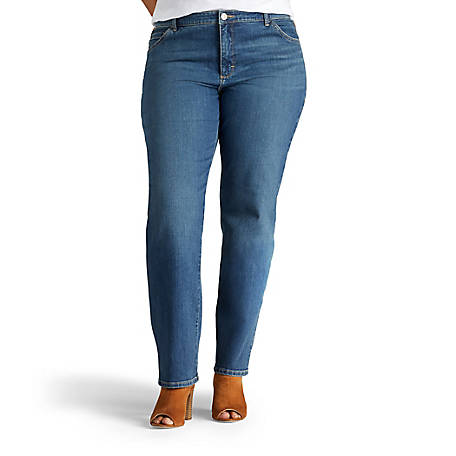 4356da70c58 Lee Women s Plus Monroe Classic Fit Straight Leg Jean