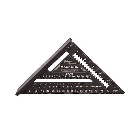 Johnson Level 7 in. Johnny Square Professional Easy-Read Aluminum Rafter Square, 1959-0700