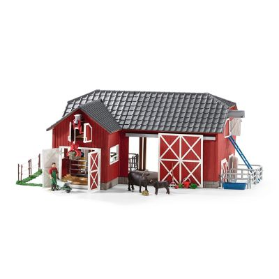 Schleich Big Red Barn with Accessories