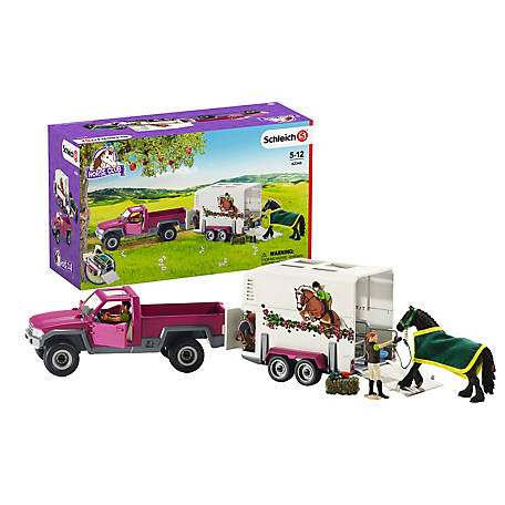 Schleich Pick up with horse trailer, 42346