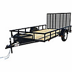 Carry-On Trailer 7 ft. x 12 ft. Wood Utility Trailer, Gate, 2,000 Lb. Capacity