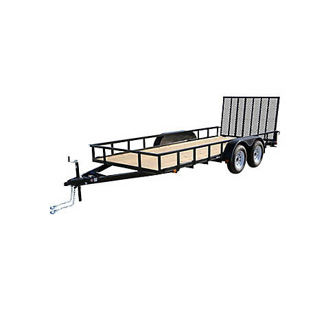 Carry-On Trailer 6 ft. x 14 ft. Landscape Utility Trailer, 5,500 lb. Capacity, Model #: 6X14GW2BRK