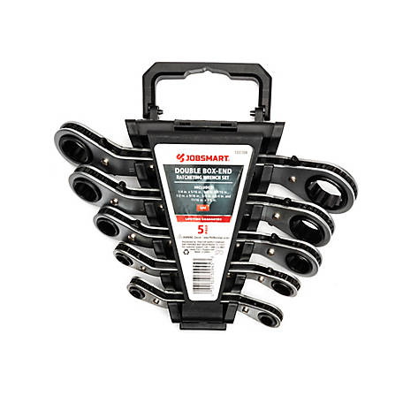 JobSmart 5-Piece Double End Ratchet Wrench Set
