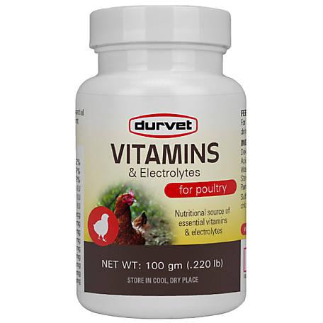 Durvet Livestock Vitamins & Electrolytes, 100 gm, 488999