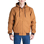 Blue Mountain Men's Duck Quilt-Lined Insulated Hooded Jacket, BMHJ51